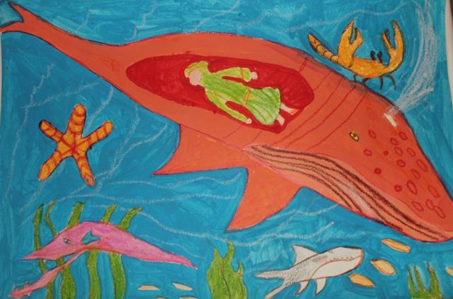 حضرت یونس در شکم ماهی